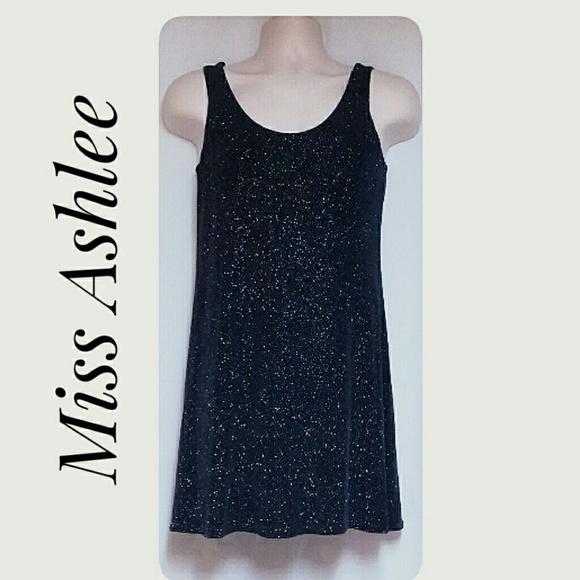 Miss Ashlee Dresses & Skirts - Miss Ashlee Stretch Sparkle Tank Dress Navy Size S